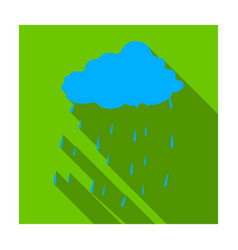 Scottish rainy weather icon in flat style isolated vector