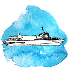 Sketch of ship vector