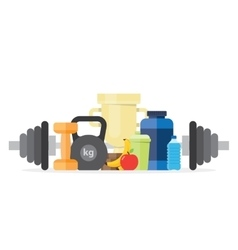 sport fitness healthy lifestyle vector image vector image
