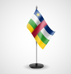 Table flag of central african republic vector