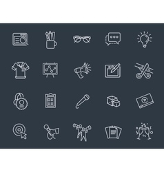 Thin line icons set icons for business digital vector