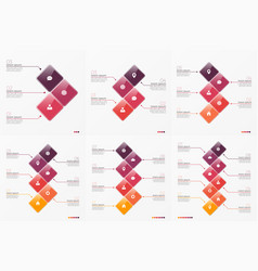 Timeline chart infographic templates vector