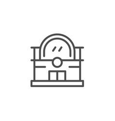 train station line icon vector image