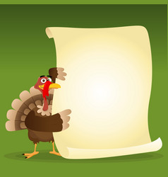Turkeys menu vector