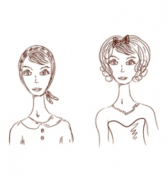 woman's face images vector image vector image