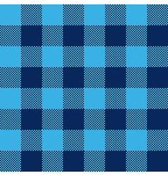Blue check pattern seamless fabric texture vector