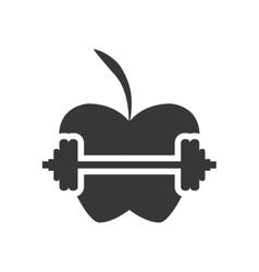 Apple healthy lifestyle design vector