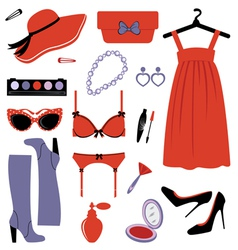 Fashion set elegance vector