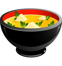 Miso soup vector image