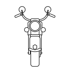 Motorcyle speed transport steel outline vector