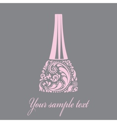Nail polish made from the leaf pattern eps10 vector