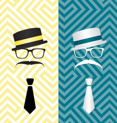 Hipster black and white vector