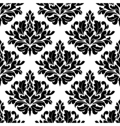 Classic damask floral seamless pattern vector