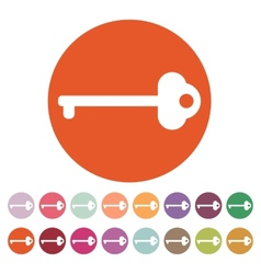 The key icon vector