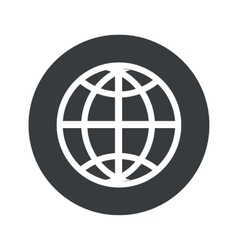 Monochrome round globe icon vector