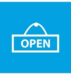 Simple open blue icon vector