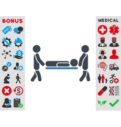 Patient stretcher icon vector
