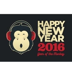 Chinese year of the monkey 2016 new year vector