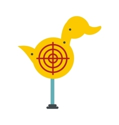 Yellow duck target icon vector image