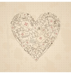 Medical heart3 vector