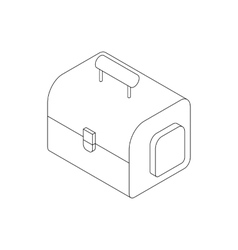 Camera bag icon isometric 3d style vector