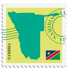 Mail to-from namibia vector