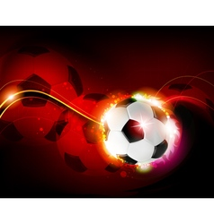 Burning ball on red background vector image