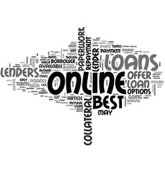 A beginners guide to the best online loans text vector