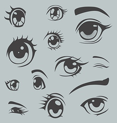 Anime style eyes vector image vector image