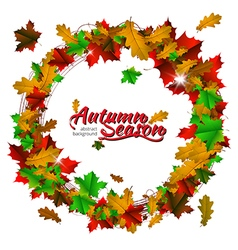 Autumn season round frame vector