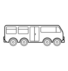Big bus icon outline style vector image vector image