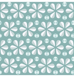 Blue floral seamless pattern vintage background vector