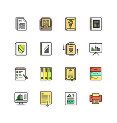 Business documents finance simple icon vector