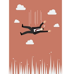 Businessman falling to the needle vector