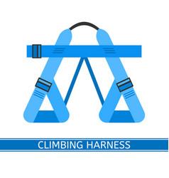 Climbing harness icon vector