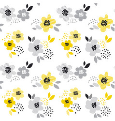 Contemporary spring floral seamless pattern with vector