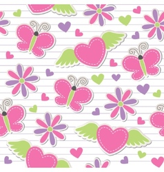 cute romantic seamless pattern vector image