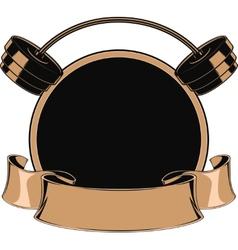 Design medals symbols vector image
