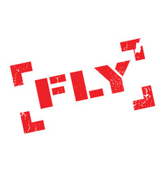 Fly rubber stamp vector