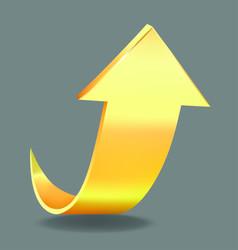 golden arrow vector image vector image