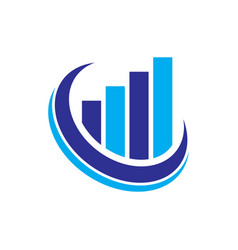 graph finance logo vector image