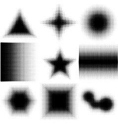 Halftone Dotted Shapes Logo Design vector image vector image