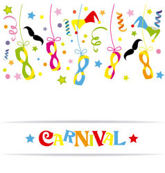Happy carnival card vector