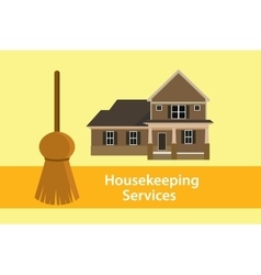 House keeping services concept poster vector