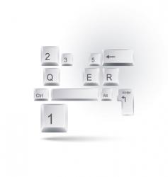 keyboard vector image vector image