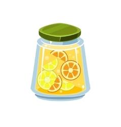 Leman jam in transparent jar vector