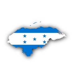 Map and flag of Honduras vector image