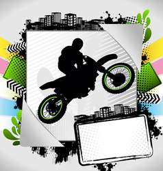 motorcyclist summer frame vector image vector image