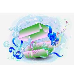 multicolor gift vector image vector image