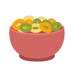 Semolina porridge cornflakes vector image